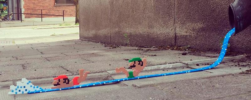 Personajes en 8 Bits toman las calles