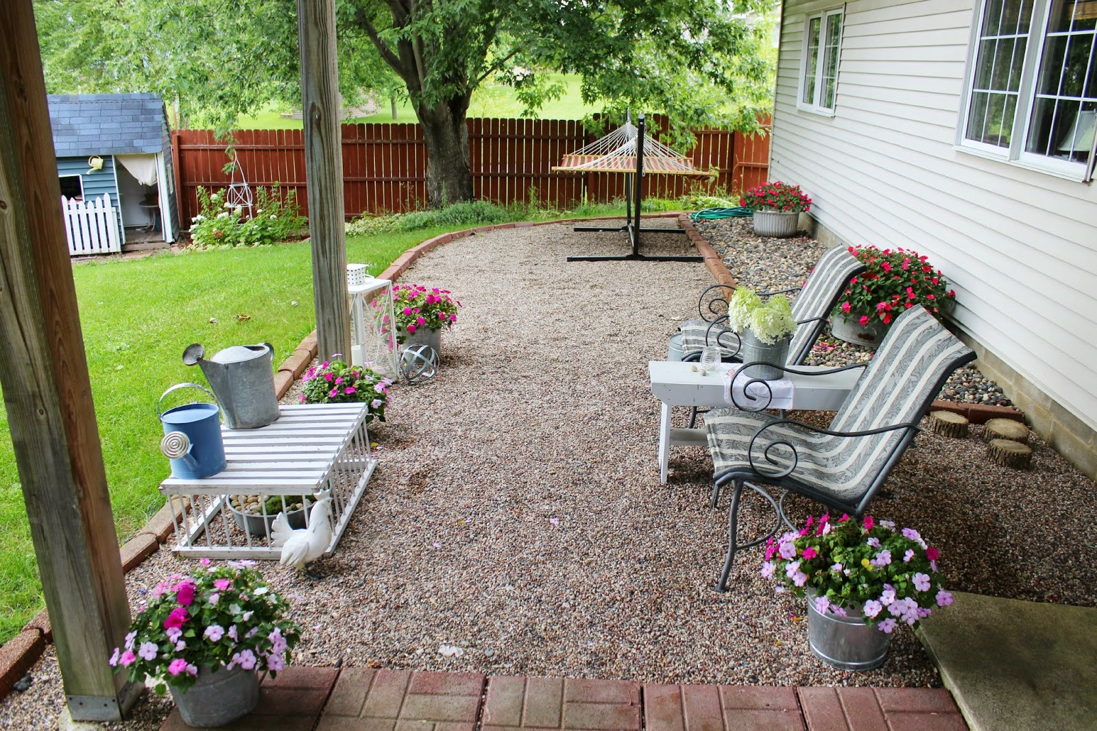 Happy At Home: Gravel Patio Love
