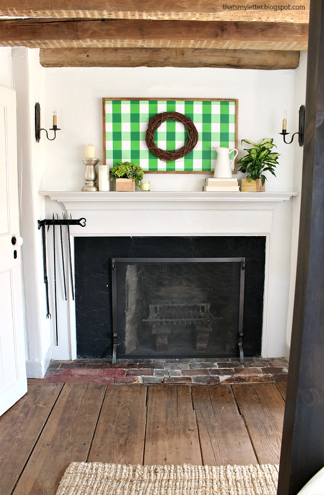 antique farmhouse spring mantel