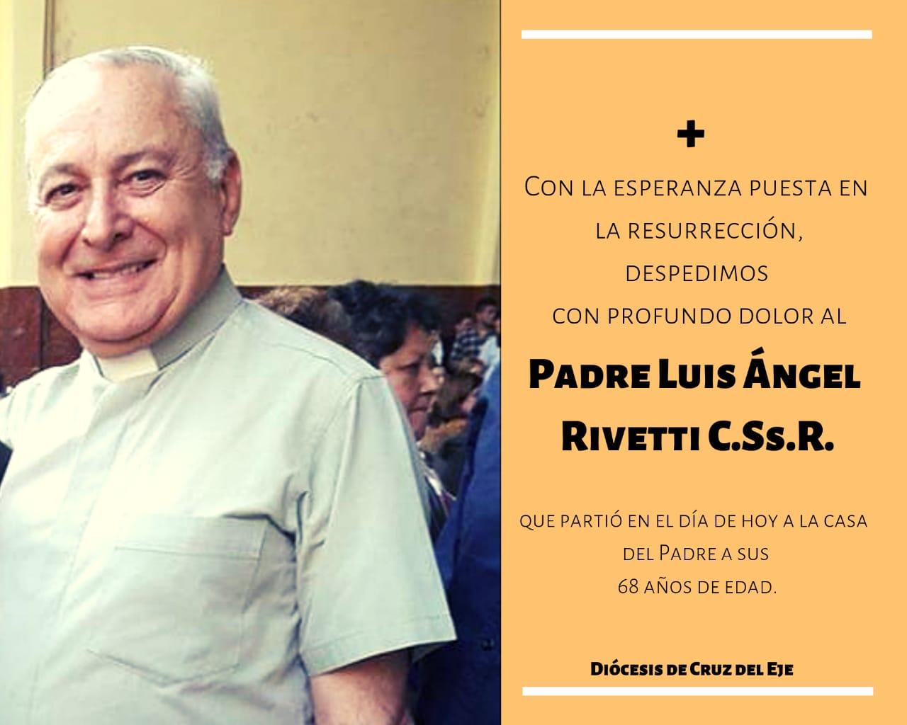 86417559a84 Esta mañana ha fallecido el padre Luis Ángel Rivetti, Administrador  Parroquial de la parroquia San Roque en Villa Sarmiento.
