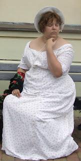 Bawełniana sukienka -lata 10. XIX wieku