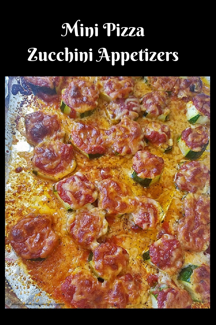 how to make Sliced thick zucchini made into mini pizza with sauce and mozzarella on topped then baked