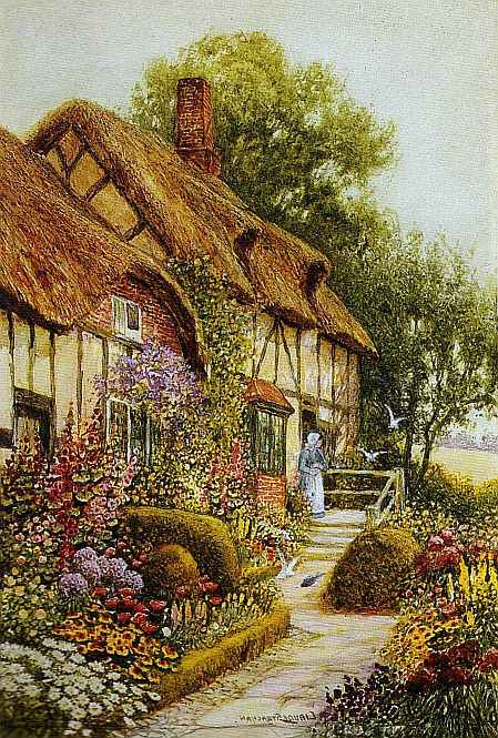 Free Beautiful Garden Wallpapers: Bumble Button: Beautiful Cozy English Country Cottages And
