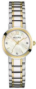 Bulova Diamond Women's Quartz Watch with Mother of Pearl Dial Analogue Display £45.58