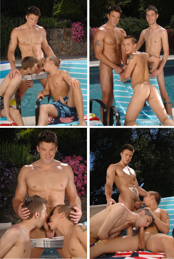 Trystan Bull fucks Nick Reeves and Max Morgan
