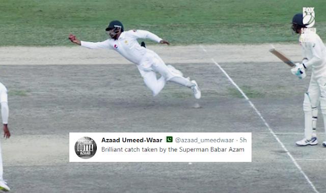 Australia vs Pakistan Test: Babar Azam's outstanding catch