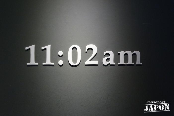 11h02, l'heure de la catastrophe, musée de la bombe atomique, Nagasaki