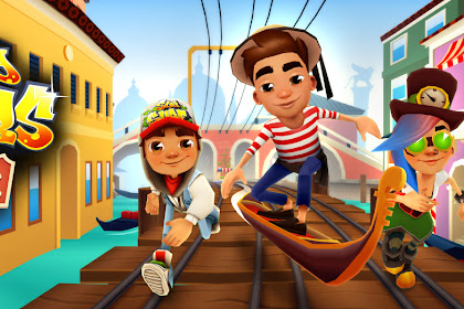 MOD Subway Surfers Venice Mod Unlimited, Money dan Keys