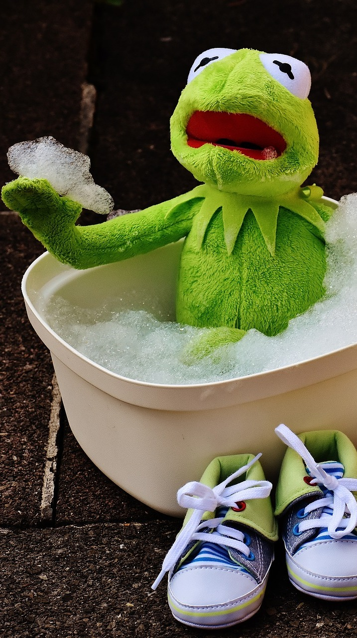 Kermit cleaning.