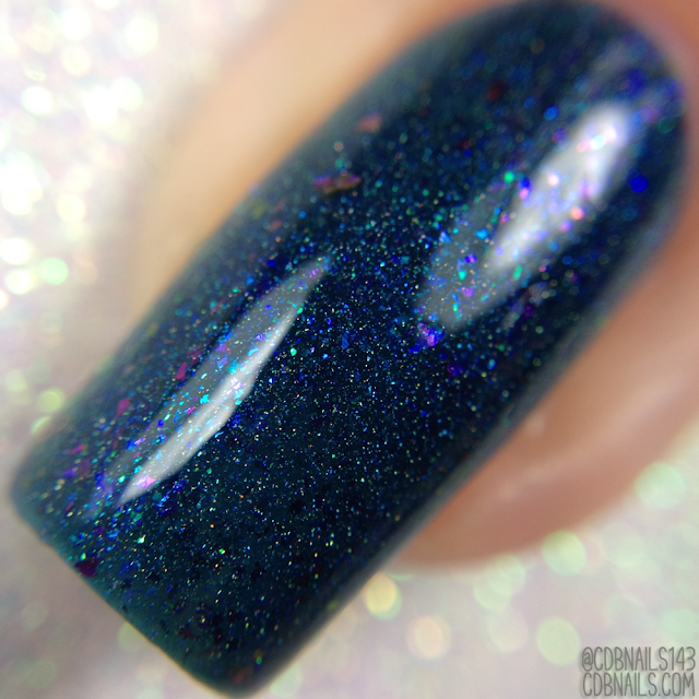 Anchor & Heart Lacquer-Fuzzy Blue Gobbler