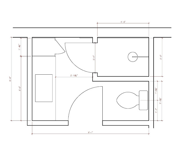 Bathroom Layout After