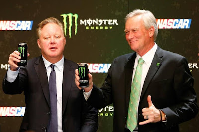 Brian France (#NASCAR Chairman) and Mark Hall (Monster Beverage Co. Chief Marketing Officer)
