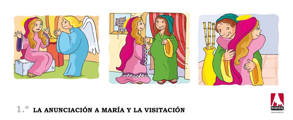 La anunciación a María y la Visitación