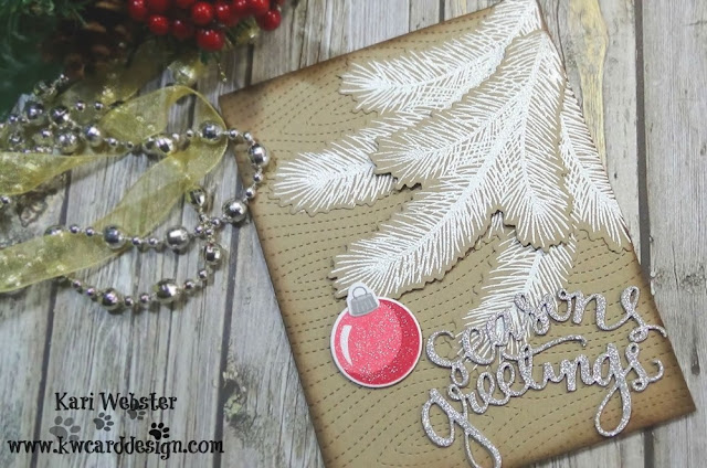 Sunny Studio Stamps: Holiday Style customer card by Kari Webster