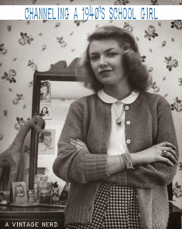 A Vintage Nerd, Vintage Lifestyle Blog, 1940s School Girl, Vintage School Girls