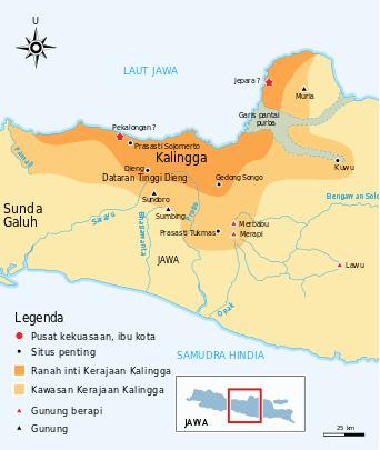 Peta kerajaan Kalingga