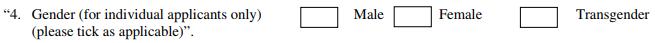 Transgender option included in PAN application form