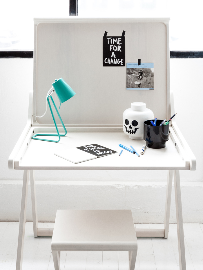 desk for kids birch wood whitewash Rafa-kids