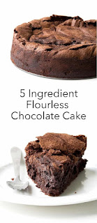 5 Ingredient Flourless Chocolate Cake