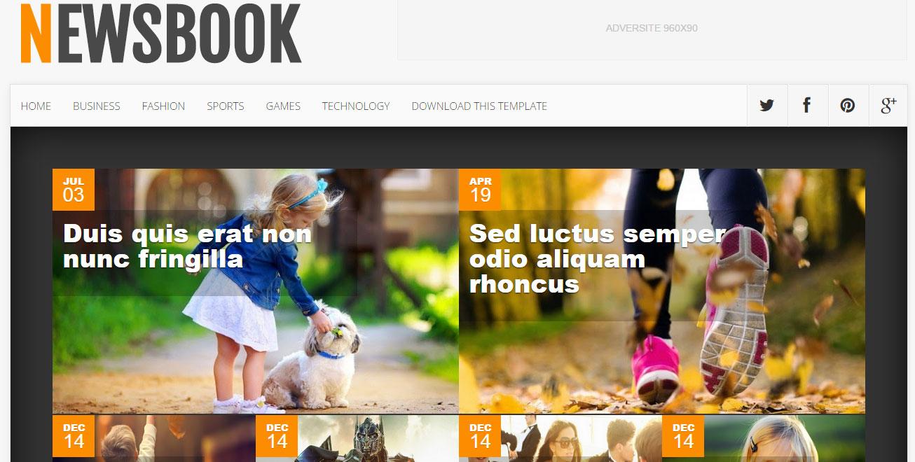 NewsBook Responsive Blogger Template