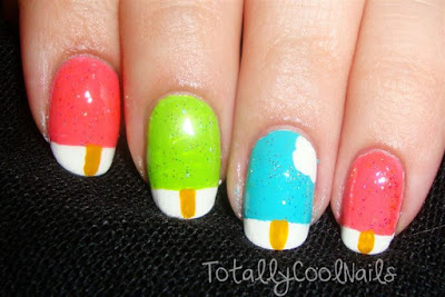 Ice Cream Inspired Nail Art