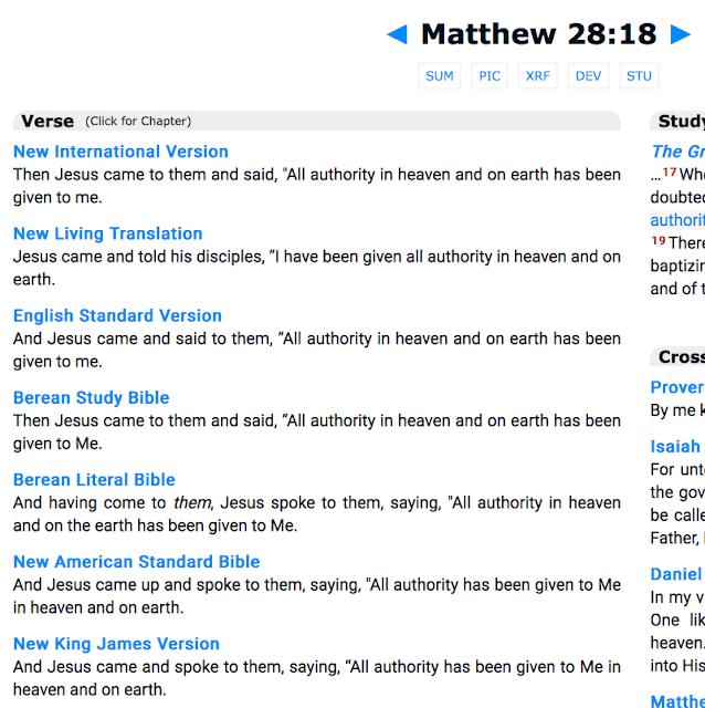 Matthew 28:18.