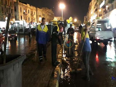 شركة الصرف الصحي, أمطار الاسكندرية, مياة الامطار, سحب مياة الامطار, شوارع الاسكندرية,