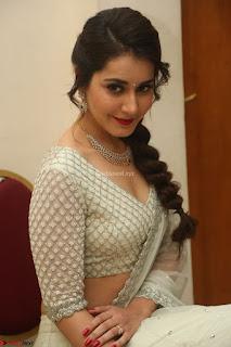 Raashi Khanan looks stunning in Crop Top Deep neck Choli Ghagra Transparent Chunni WOW ~  Exclusive Celebrities Galleries 020