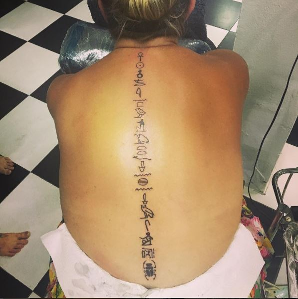 ffc337df6036b2 50+ Back Spine Tattoos for Men (2019) Tribal, Flower & Quotes ...