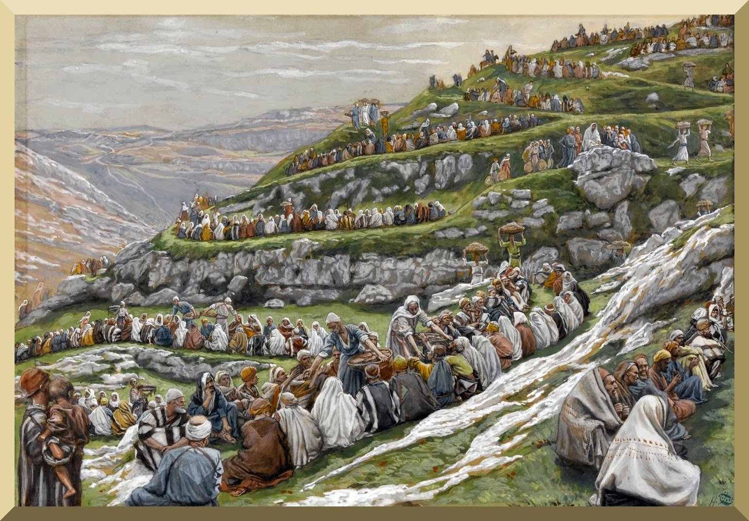 """The Miracle of the Loaves and Fishes"" -- by James Tissot"