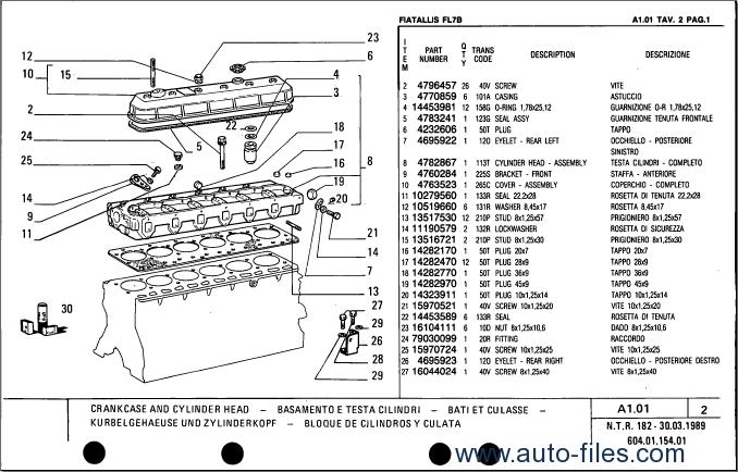 Fiat Allis 8b Dozer Parts : Service spare parts catalog