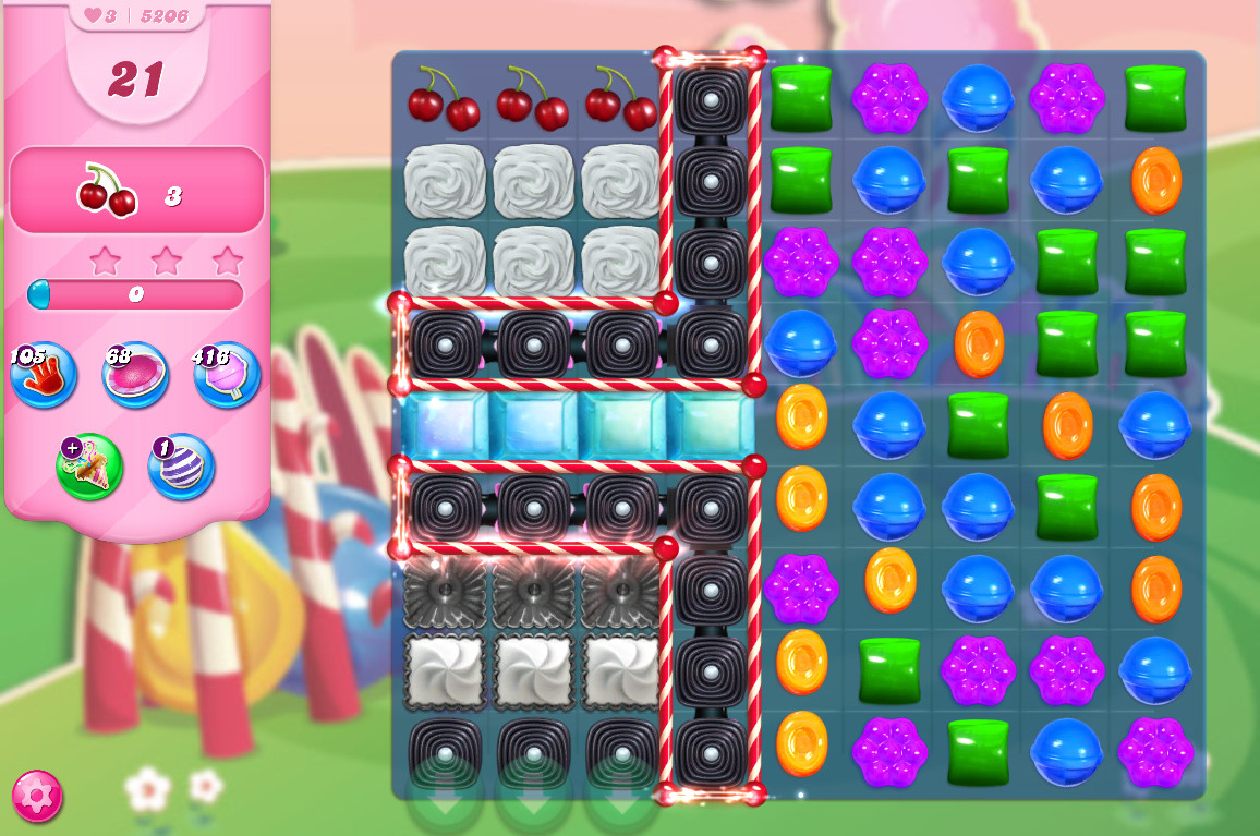 Candy Crush Saga level 5206