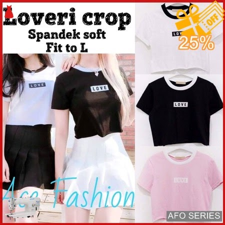 AFO278 Model Fashion Loveri Crop Modis Murah BMGShop