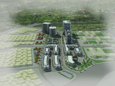 Phối cảnh tổng thể dự án Hateco Thạch Bàn- Long Biên