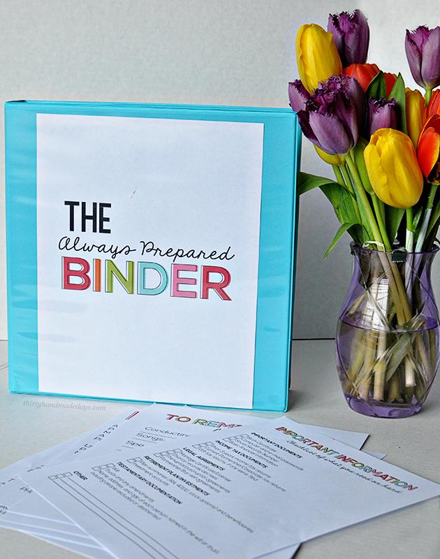 1+alwayspreparedbinderfinal The Best Wedding, Easter, Spring and More Printables 35