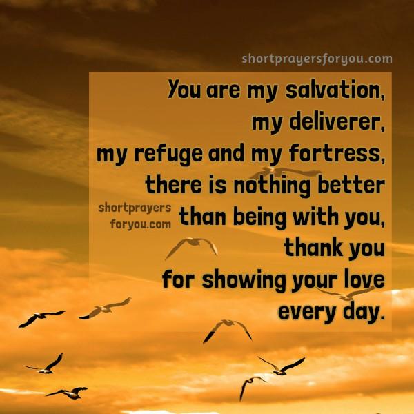 Free christian quotes, short prayer praise God, new day prayer, free image with christian prayer by Mery Bracho