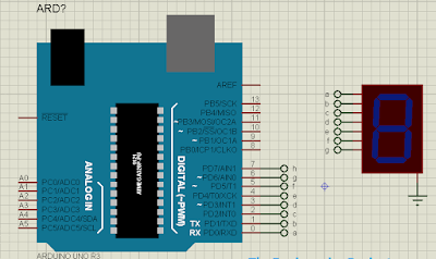 Interfacing-of-Seven-Segment-by-using-its-library-with-Arduino-in-Proteus
