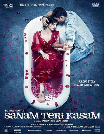 Poster Of Sanam Teri Kasam 2016 Hindi 450MB DVDRip 480p ESubs Free Download Watch Online