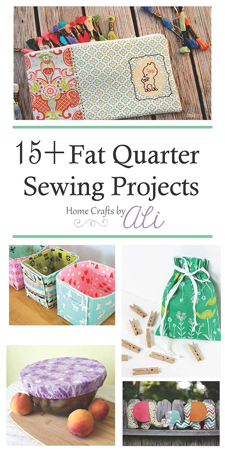 15 fat quarter sewing project tutorials - bags, stuffed animals, storage boxes and more