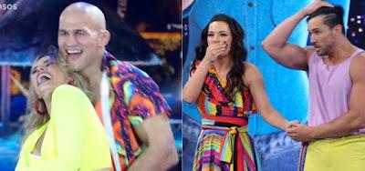 Na Dança dos Famosos, Junior Cigano e Regiane Alves se salvam na repescagem