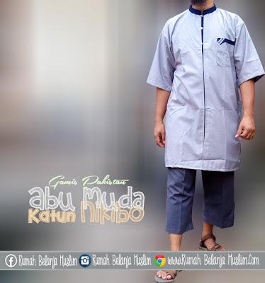 Baju Koko Kurta Toyobo Abu Muda