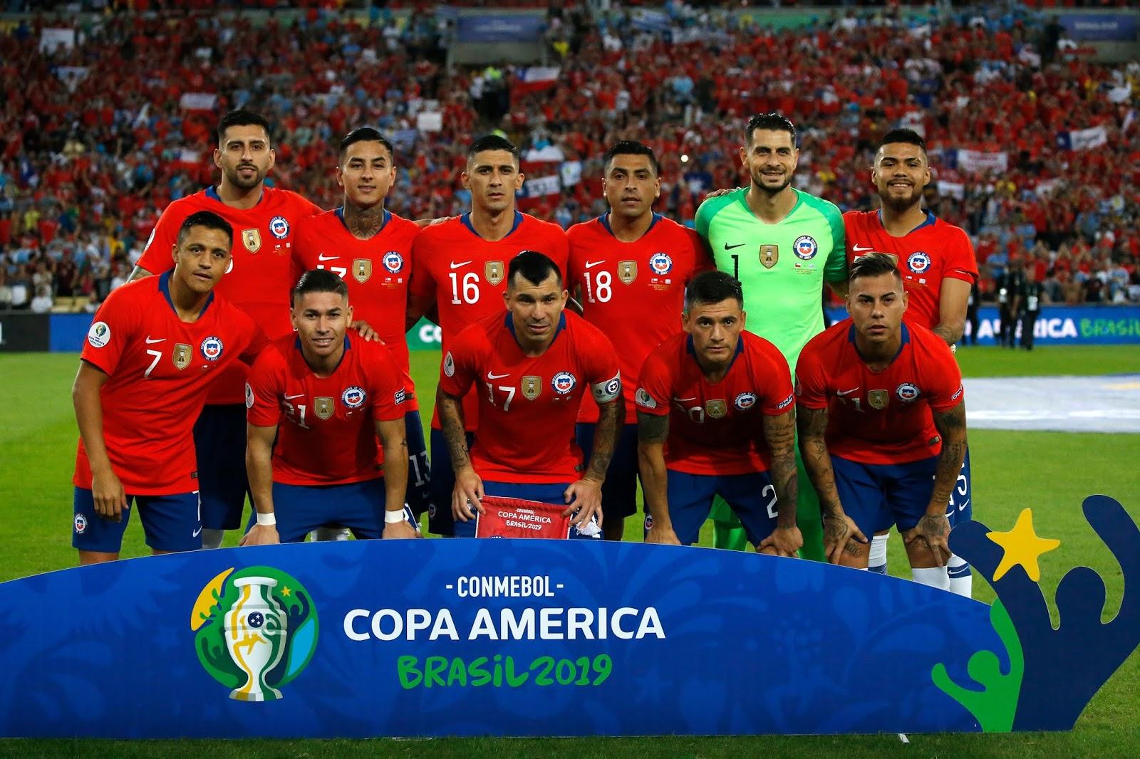 Formación de Chile ante Uruguay, Copa América 2019, 24 de junio
