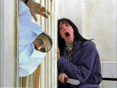 Witziges Bild Barack Obama als das Monster lustig