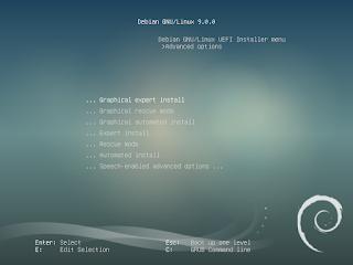 Menu Boot pada GNU/Linux Debian