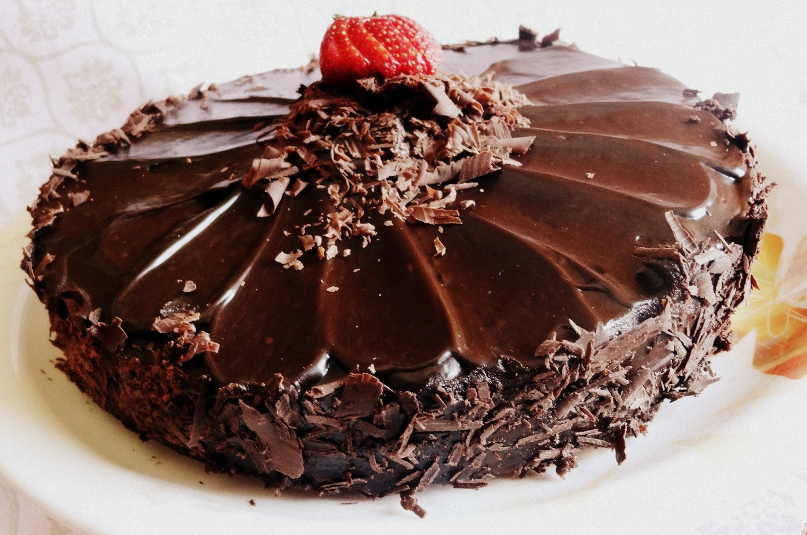 Eggless Belgian Chocolate Cake