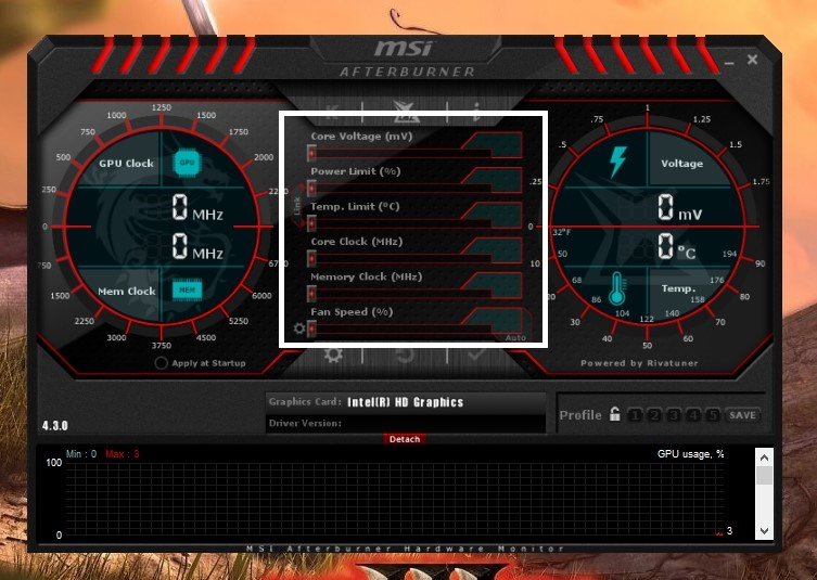 how to tell in game fps msi after burner