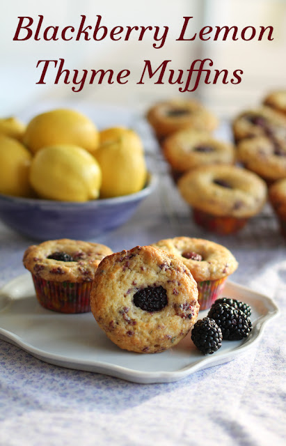 Food Lust People Love: Blackberry Lemon Thyme Muffins #MuffinMonday