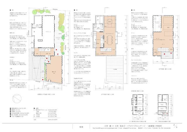 陶芸工房を併設した三階建ての二世帯住宅 平面計画