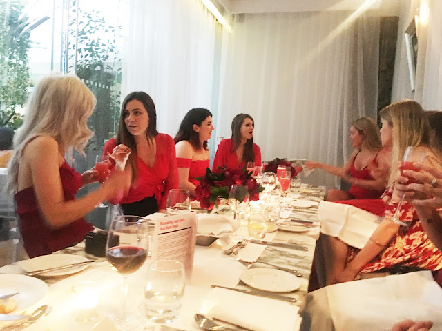 Charity Dinner in London at the Sanderson Hotel with InTheFrow and the British Heart Foundation