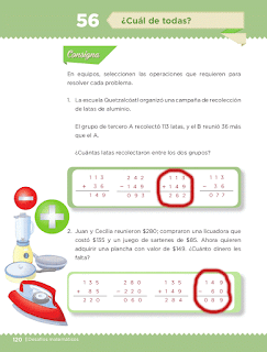 Respuestas Apoyo Primaria Desafíos matemáticos 3ro Grado Bloque IV Lección 56 ¿Cuál de todas?